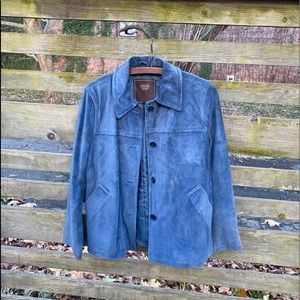 NEVER WORN 100% genuine suede Coach jacket
